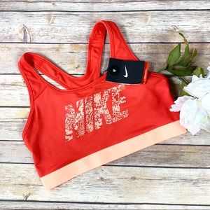 Nike Orange Athletic Medium Support Sports Bra NWT
